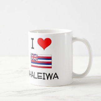 I Love HALEIWA Hawaii Classic White Coffee Mug
