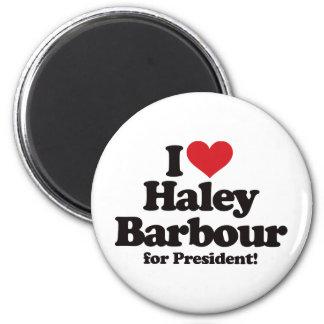 I Love Haley Barbour for President Magnet