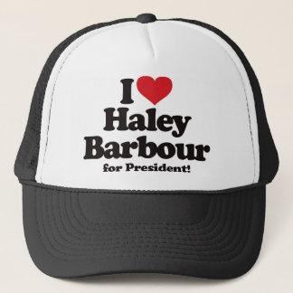 I Love Haley Barbour for President Trucker Hat