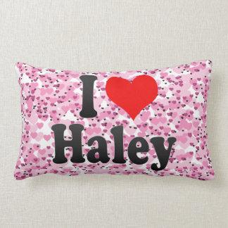 I love Haley Throw Pillows