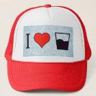 I Love Half Full Glass Trucker Hat