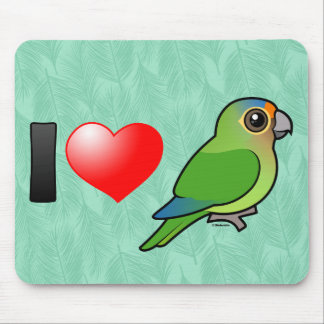 I Love Half Moon Conures Mouse Pad