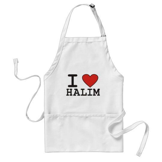I Love Halim Adult Apron