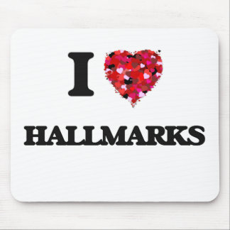 I Love Hallmarks Mouse Pad