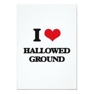 I love Hallowed Ground 3.5x5 Paper Invitation Card