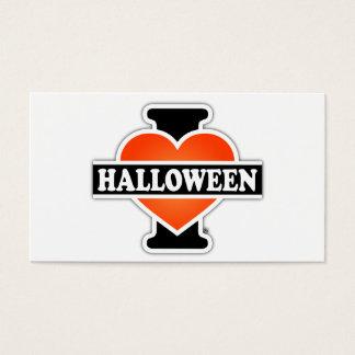 I Love Halloween #1 Business Card