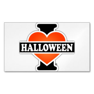 I Love Halloween #1 Business Card Magnet