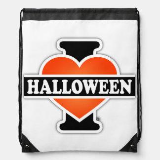 I Love Halloween #1 Drawstring Bag
