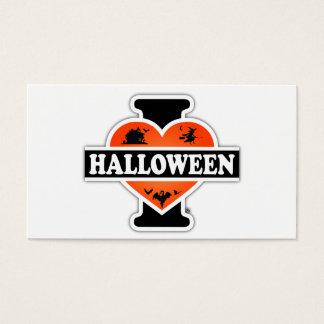 I Love Halloween #2 Business Card