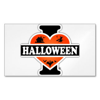 I Love Halloween #2 Business Card Magnet