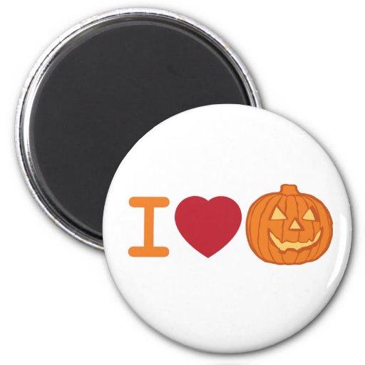 I love Halloween 2 Inch Round Magnet