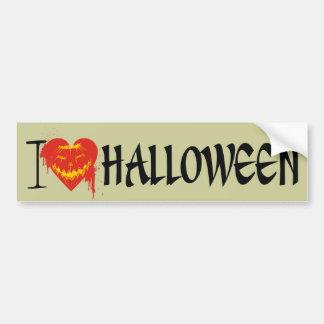 I Love Halloween Bumper Sticker