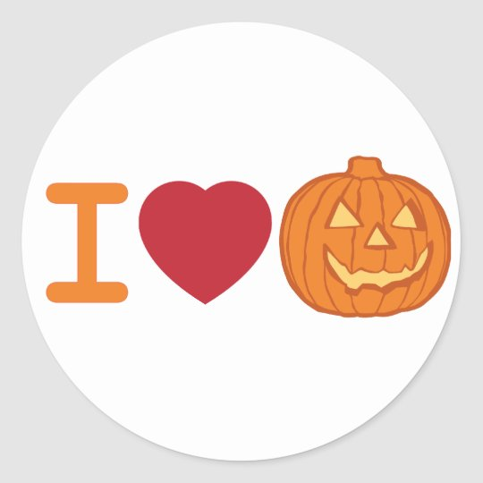 I love Halloween Classic Round Sticker