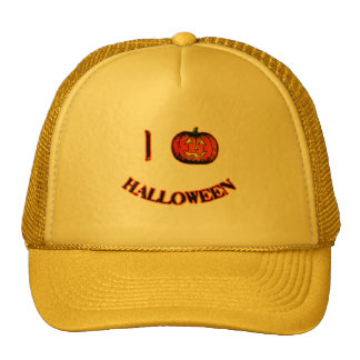 I Love Halloween Cute Halloween T-shirt Trucker Hats