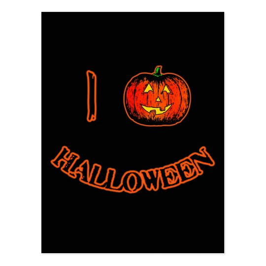 I Love Halloween Cute Halloween T-shirt Postcard