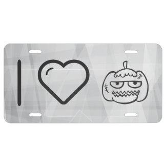 I Love Halloween Eggheads License Plate