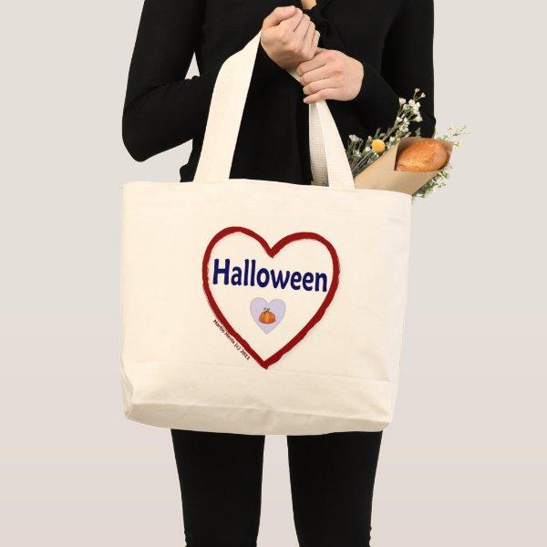 I Love Halloween Large Tote Bag