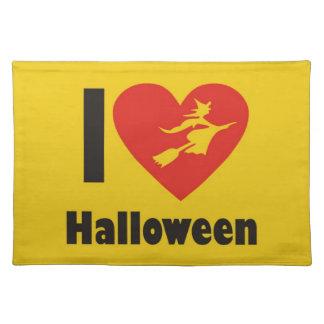I Love Halloween Place Mat