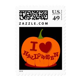 I Love Halloween Postage