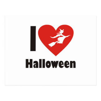 I Love Halloween Postcard