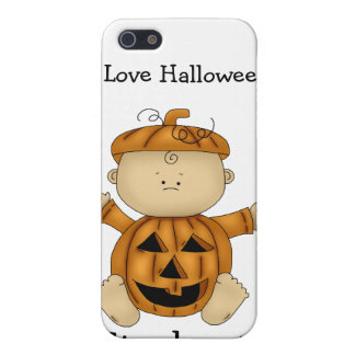 I Love Halloween/Pumpkin Kid-Personalized Name iPhone SE/5/5s Case