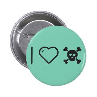 I Love Halloween Skullies 2 Inch Round Button