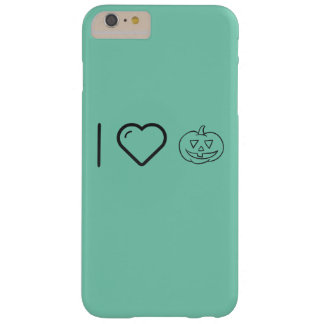 I Love Halloween Smileys Barely There iPhone 6 Plus Case