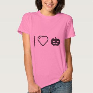 I Love Halloween Squashes T-shirts