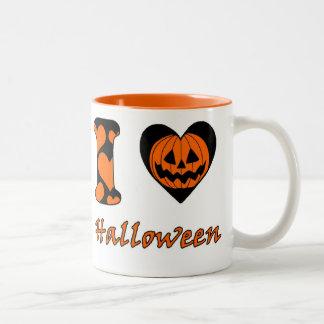 I love Halloween Two-Tone Coffee Mug
