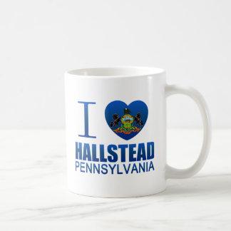 I Love Hallstead, PA Classic White Coffee Mug