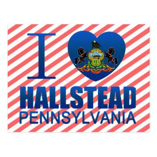 I Love Hallstead, PA Postcard