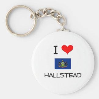 I Love Hallstead Pennsylvania Basic Round Button Keychain