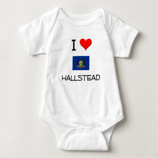 I Love Hallstead Pennsylvania T Shirts
