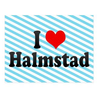 I Love Halmstad, Sweden Postcard