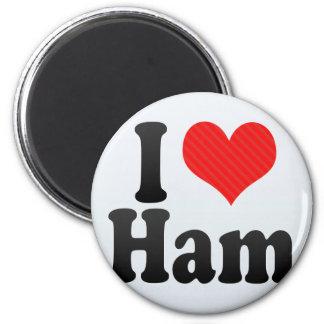 I Love Ham 2 Inch Round Magnet