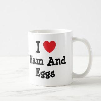 I love Ham And Eggs heart T-Shirt Coffee Mug
