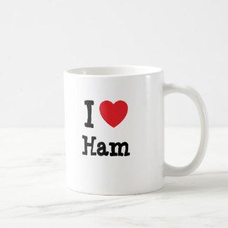 I love Ham heart T-Shirt Coffee Mug