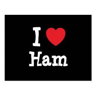 I love Ham heart T-Shirt Postcard