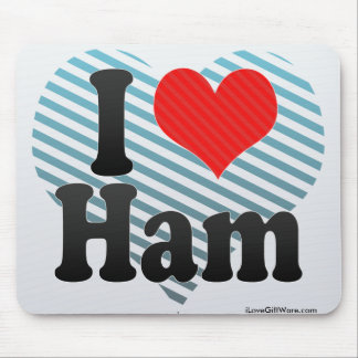I Love Ham Mouse Pad