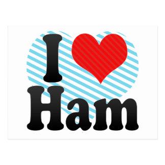 I Love Ham Postcard