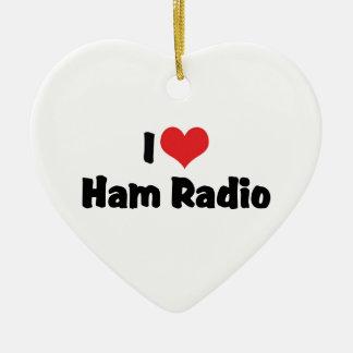 I Love Ham Radio Ornament