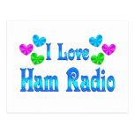 I Love Ham Radio Postcard