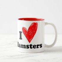 I love ham Two-Tone coffee mug