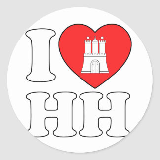 I Love Hamburg (HH) Classic Round Sticker
