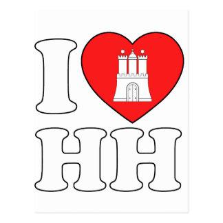 I Love Hamburg (HH) Postcard