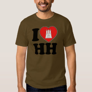 I Love Hamburg (HH) T Shirt