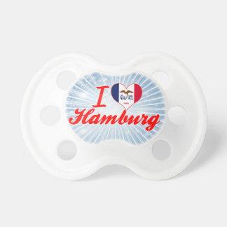 I Love Hamburg Iowa Baby Pacifiers