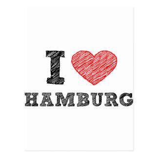 I love Hamburg Postcard