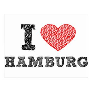 I love Hamburg Post Card