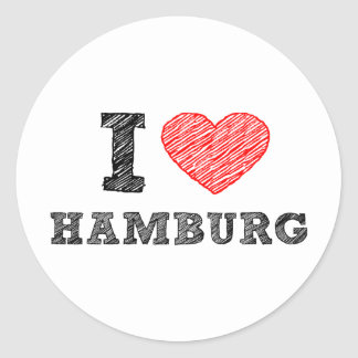 I love Hamburg Round Sticker